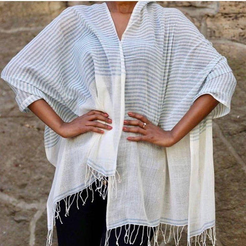 lightweight scarf is made of pure Ethiopian cotton