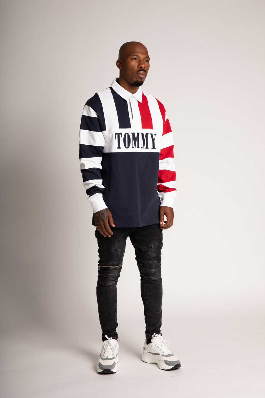 Tommy Jeans Red White and Blue Snoop Rugby