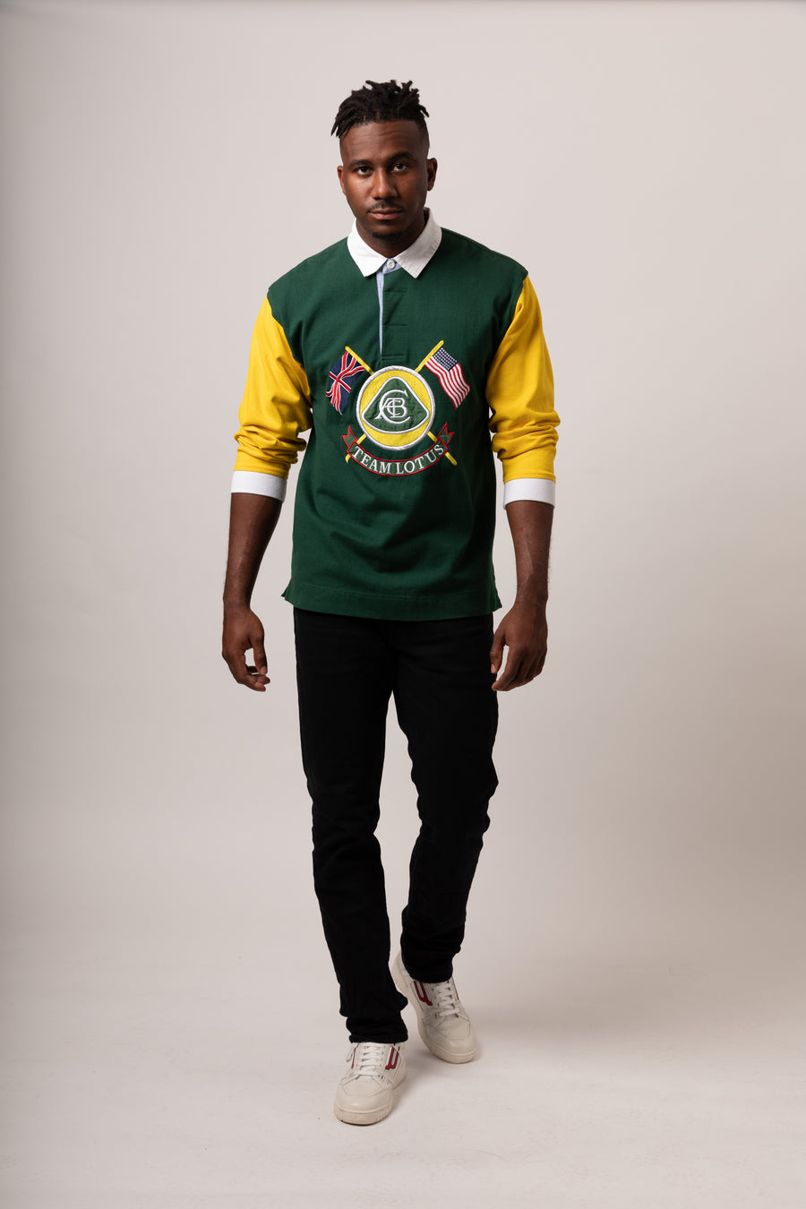 Color blocked Long sleeve Rugby Shirt