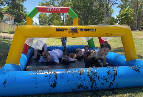 mud run inflatable obstacle challenges