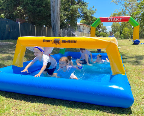school fun run inflatable obstacles