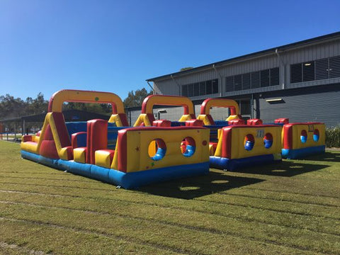 inflatable obstacles for school colour runs