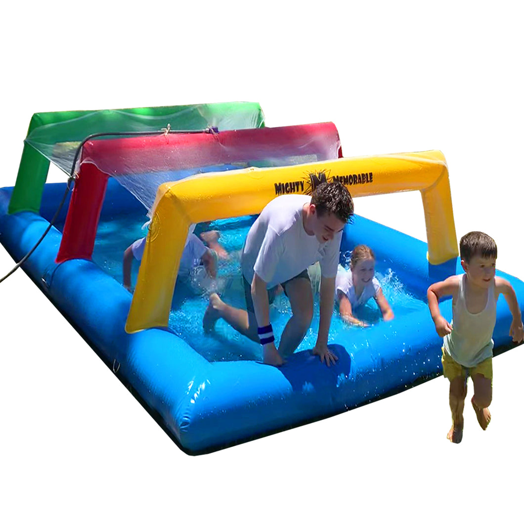Inflatable Crawl Net and Pool for Fun Runs