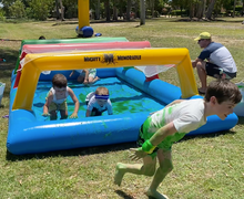 Load image into Gallery viewer, Inflatable Crawl Net and Pool for Fun Runs