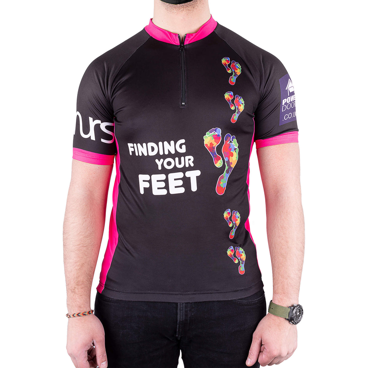 finding your feet black cycling top