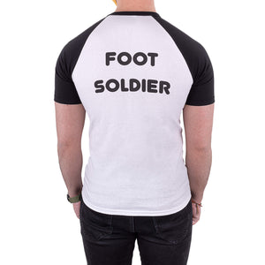 finding your feet foot soldier ringer tee black
