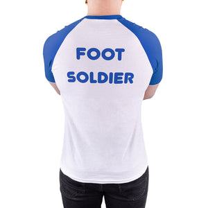 finding your feet foot soldier ringer tee blue