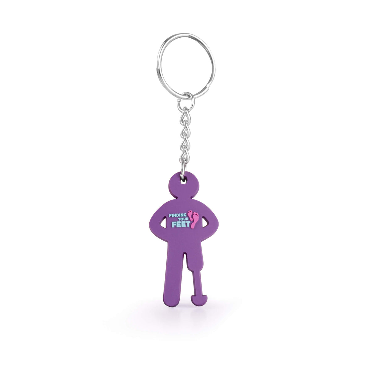 finding your feet keyring