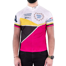 Load image into Gallery viewer, finding your feet cycle top - pink black and yellow