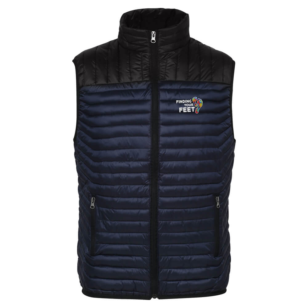 finding your feet two tone embroidered bodywarmer