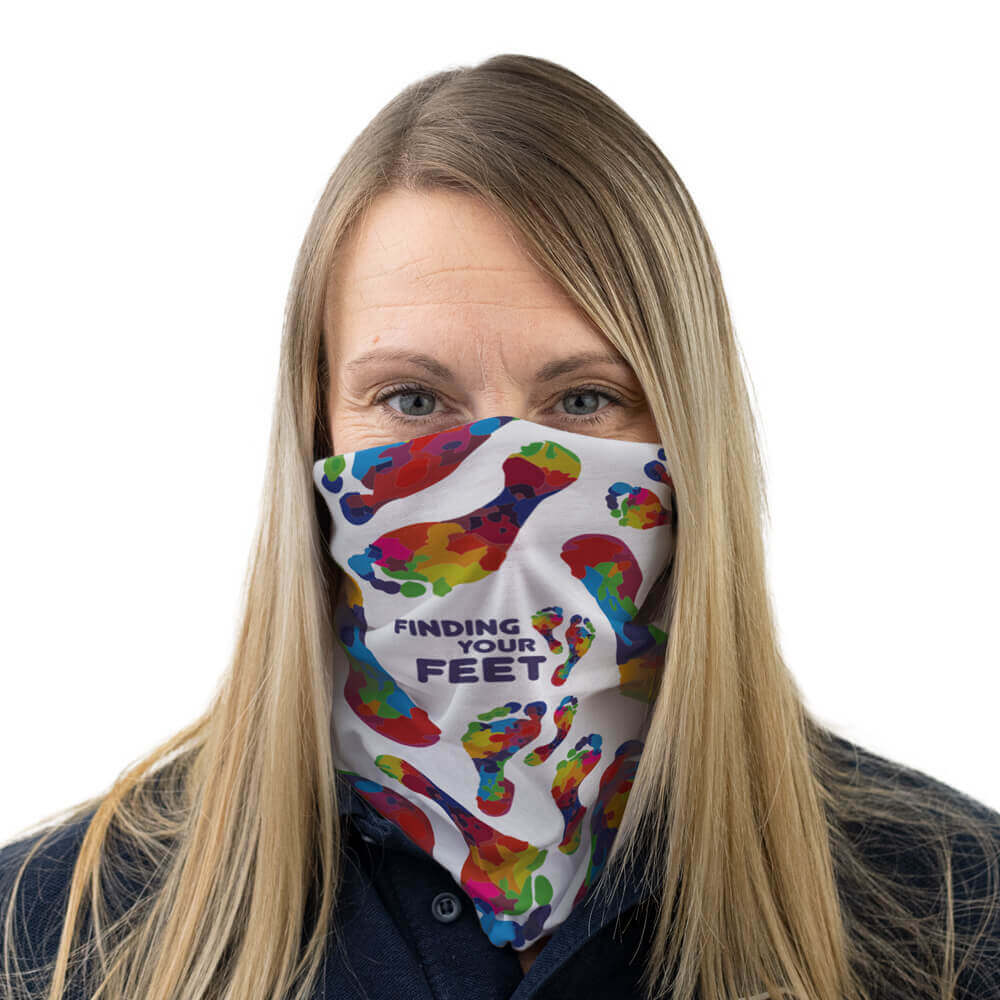 finding your feet multi-functional face covering