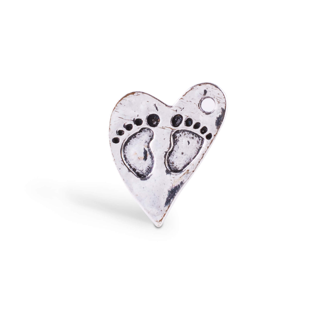 finding your feet heart charm