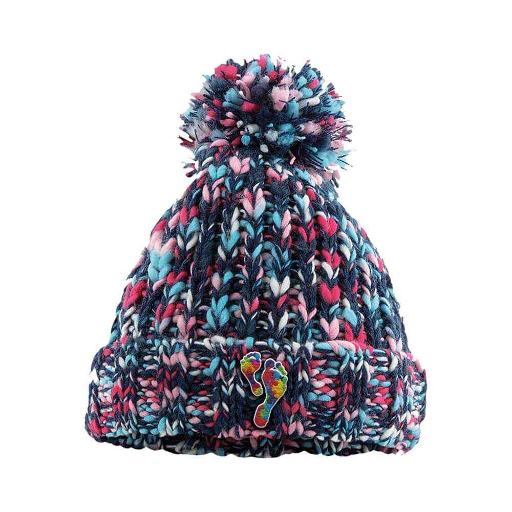 finding your feet pom pom beanie