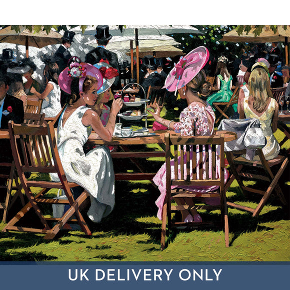 Sherree Valentine Daines 'Afternoon Tea at Ascot' Framed Printed Canvas