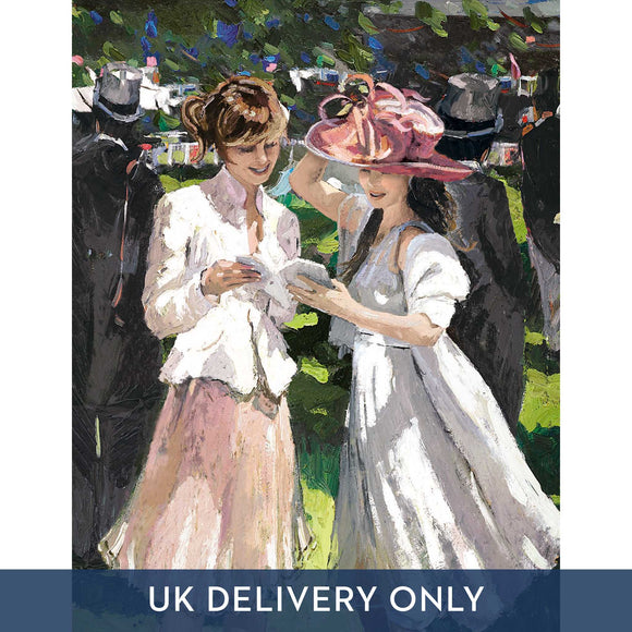 Sherree Valentine Daines 'Royal Ascot Ladies Day II' Framed Printed Canvas