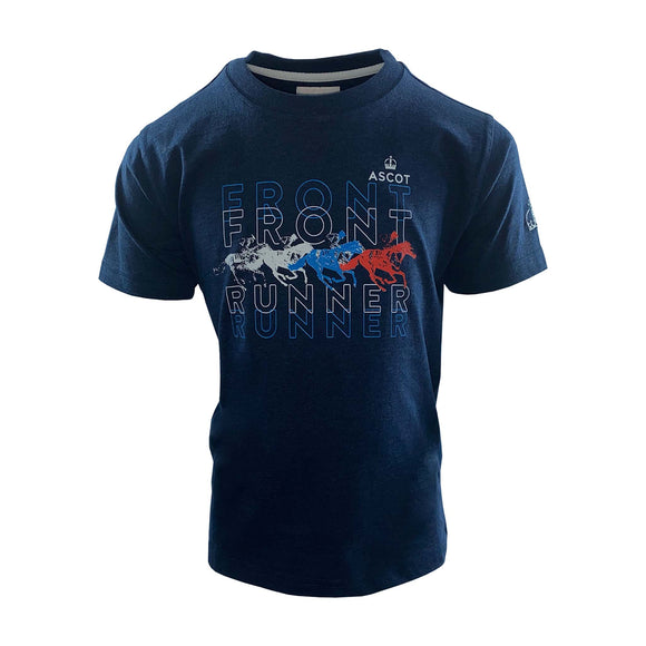 Ascot Boy's Front Runner T-Shirt Navy