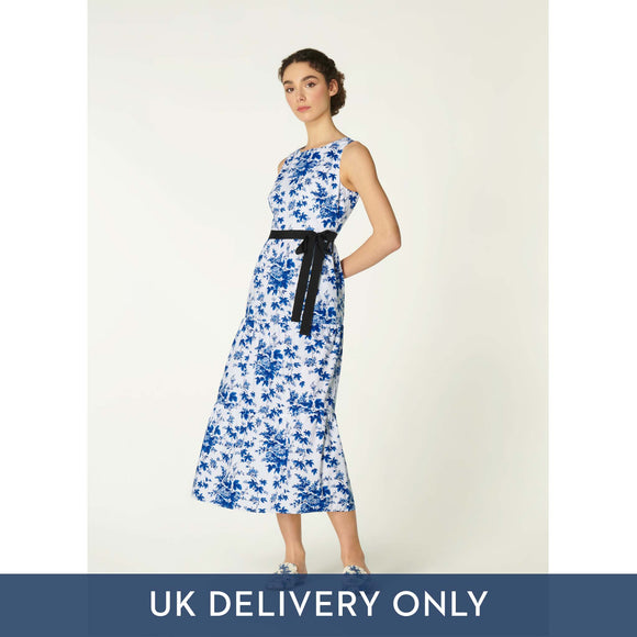 LK Bennett Ladies Hodgkin Cotton Dress Blue/White