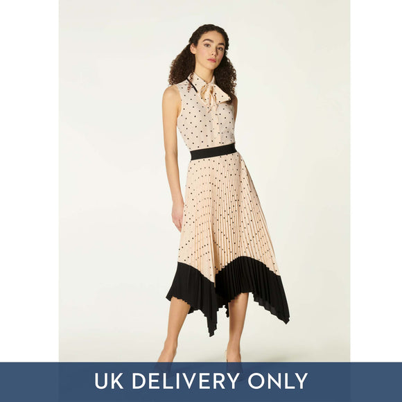 LK Bennett Ladies Koller Skirt Cream/Black