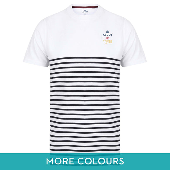 Ascot Mens 1711 Contrast Striped T-Shirt