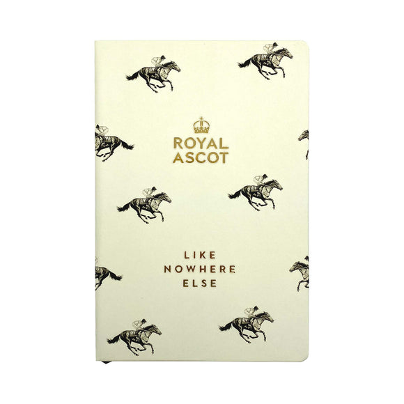 Royal Ascot 'Like Nowhere Else' A5 Notebook Cream/Gold