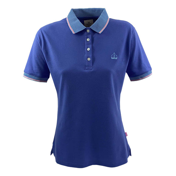Ascot Ladies Crown Polo Shirt Blue
