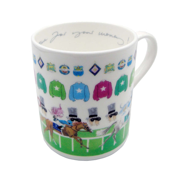 Ascot 'Run For Your Money' Mug White