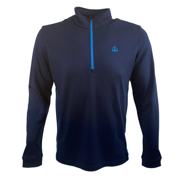 Ascot Mens Half Zip Sport Top Navy