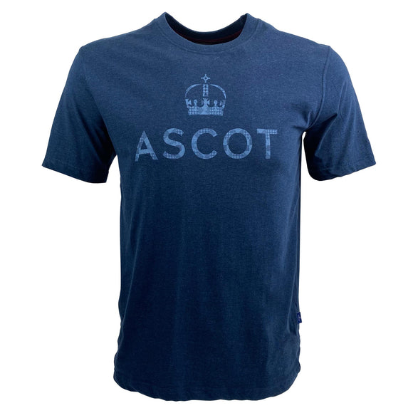 Ascot Mens Logo T-Shirt Navy