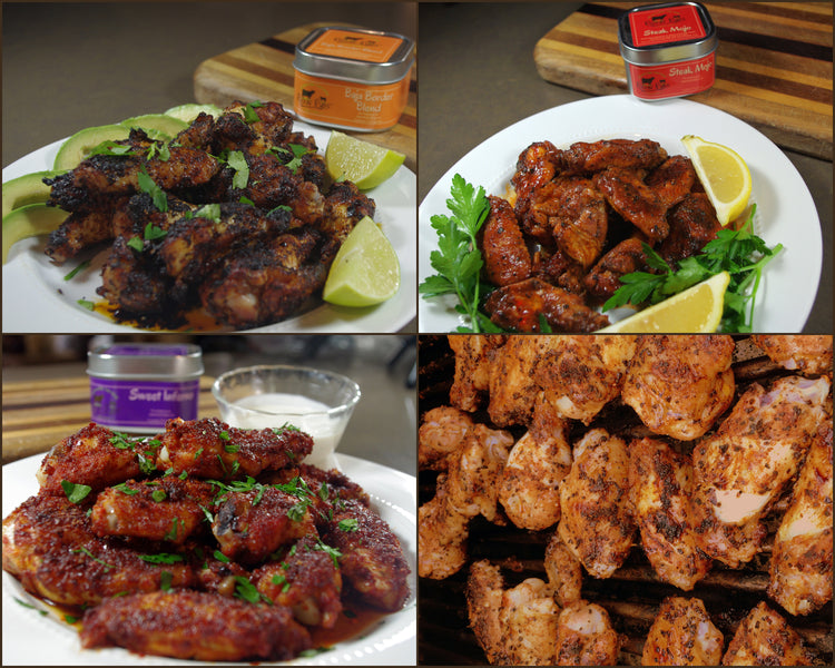 Super Bowl Wings 4 ways