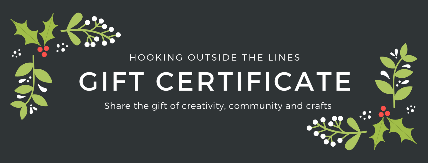 Hooking Outside the Lines Gift Certificate