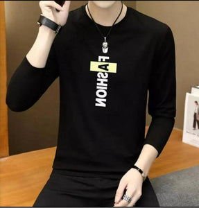 Black  FASHION Printed  Round Neck T-Shirt - YoVibe