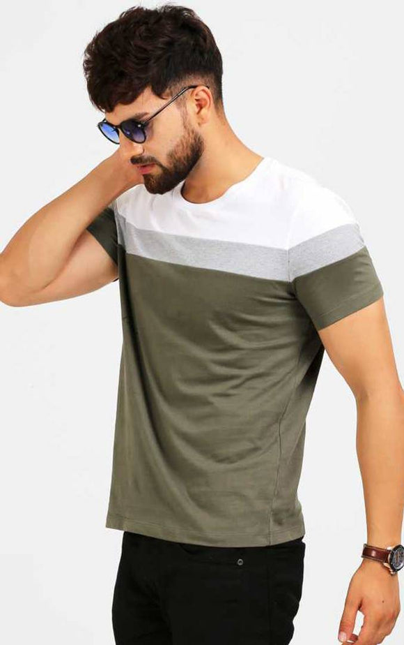 Elegant Green Half Sleeve T-shirt