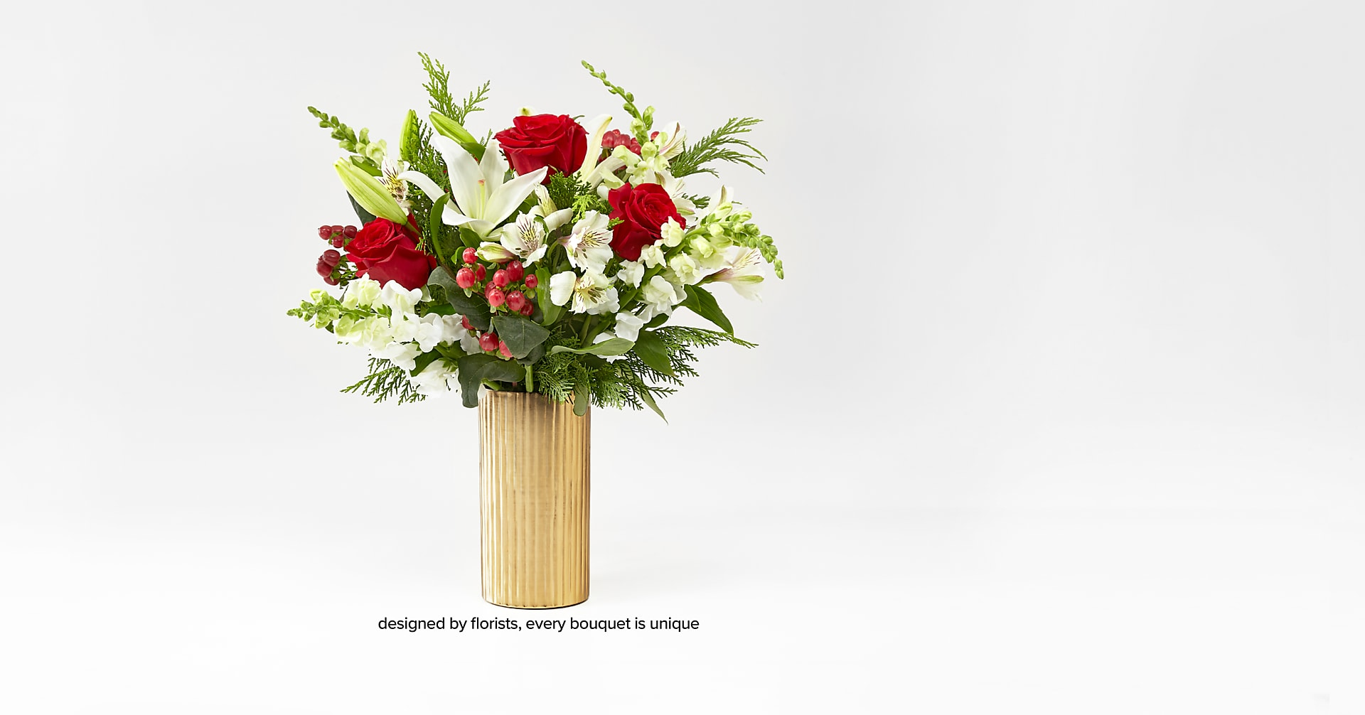 Golden Holiday Bouquet - Image 4 Of 4