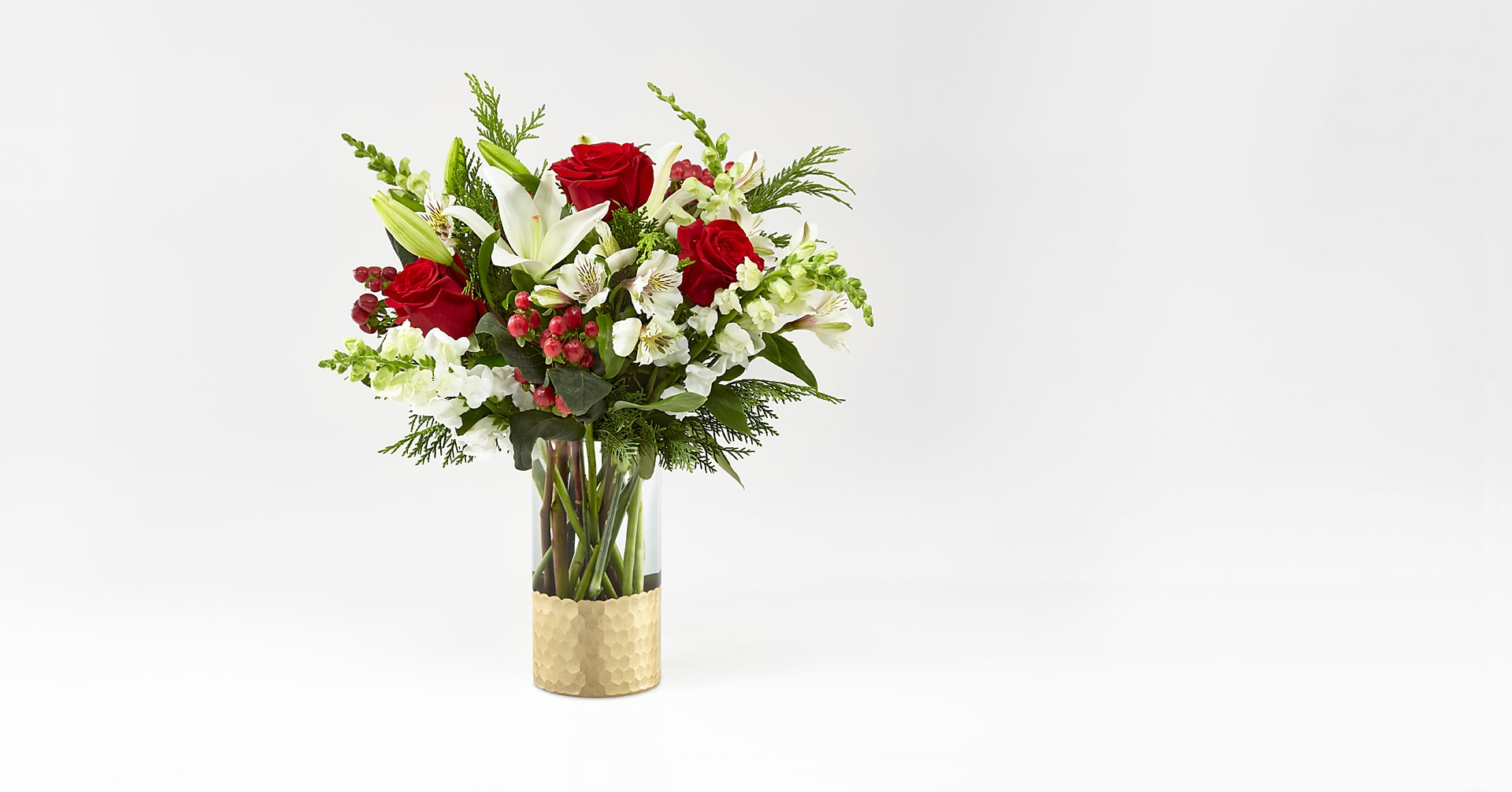 Golden Holiday Bouquet - Image 1 Of 4