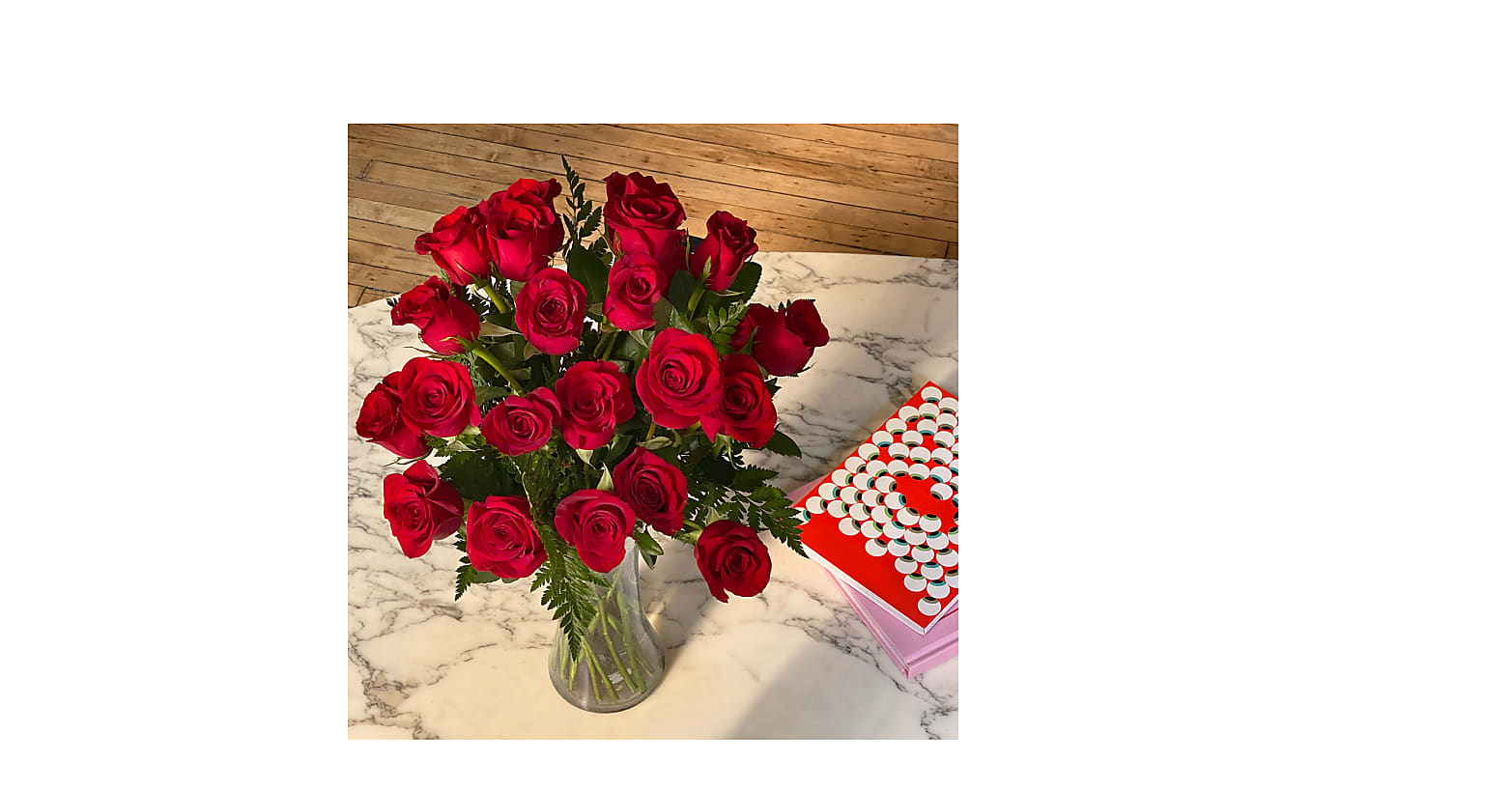 Lovebirds Red Rose Bouquet - Image 4 Of 6