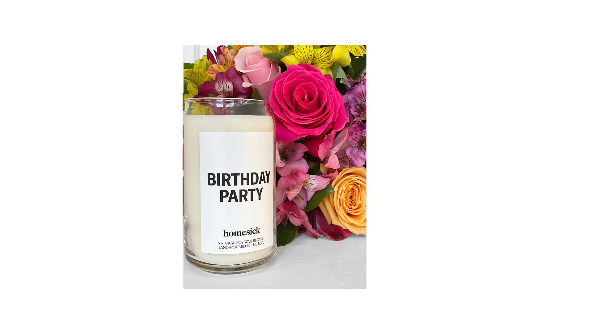 Sunshine Bouquet & Birthday Party Homesick® Candle - Image 2 Of 2