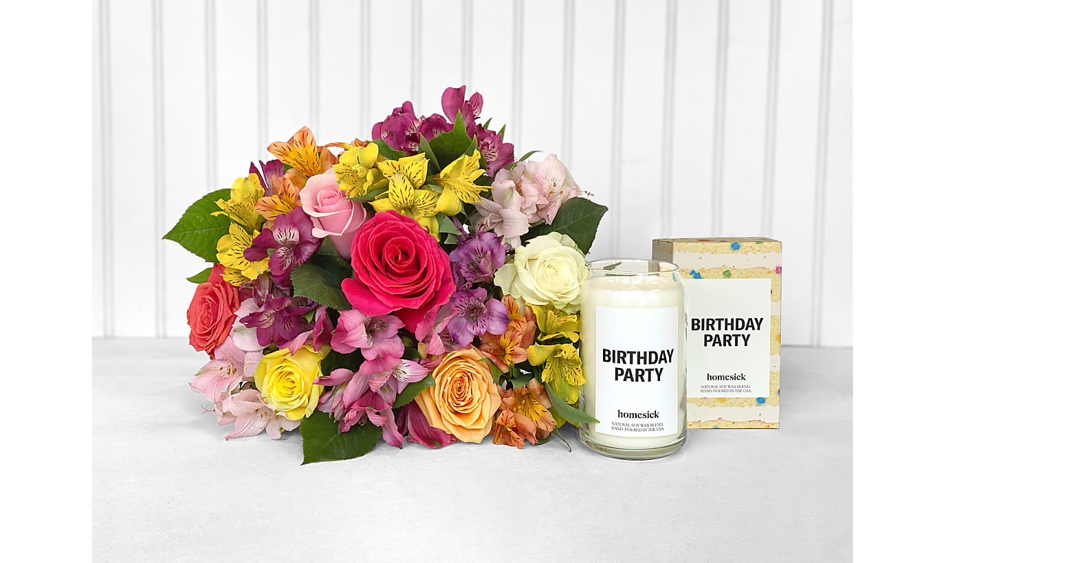 Sunshine Bouquet & Birthday Party Homesick® Candle - Image 1 Of 2