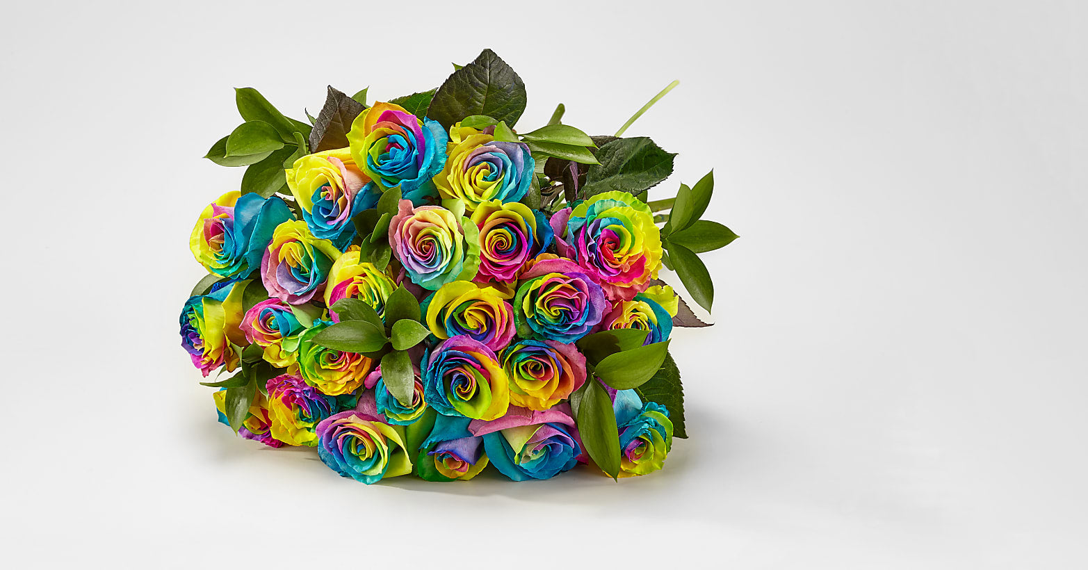Unicorn Roses–24 Long Stemmed Tie Dyed Roses - Image 1 Of 3
