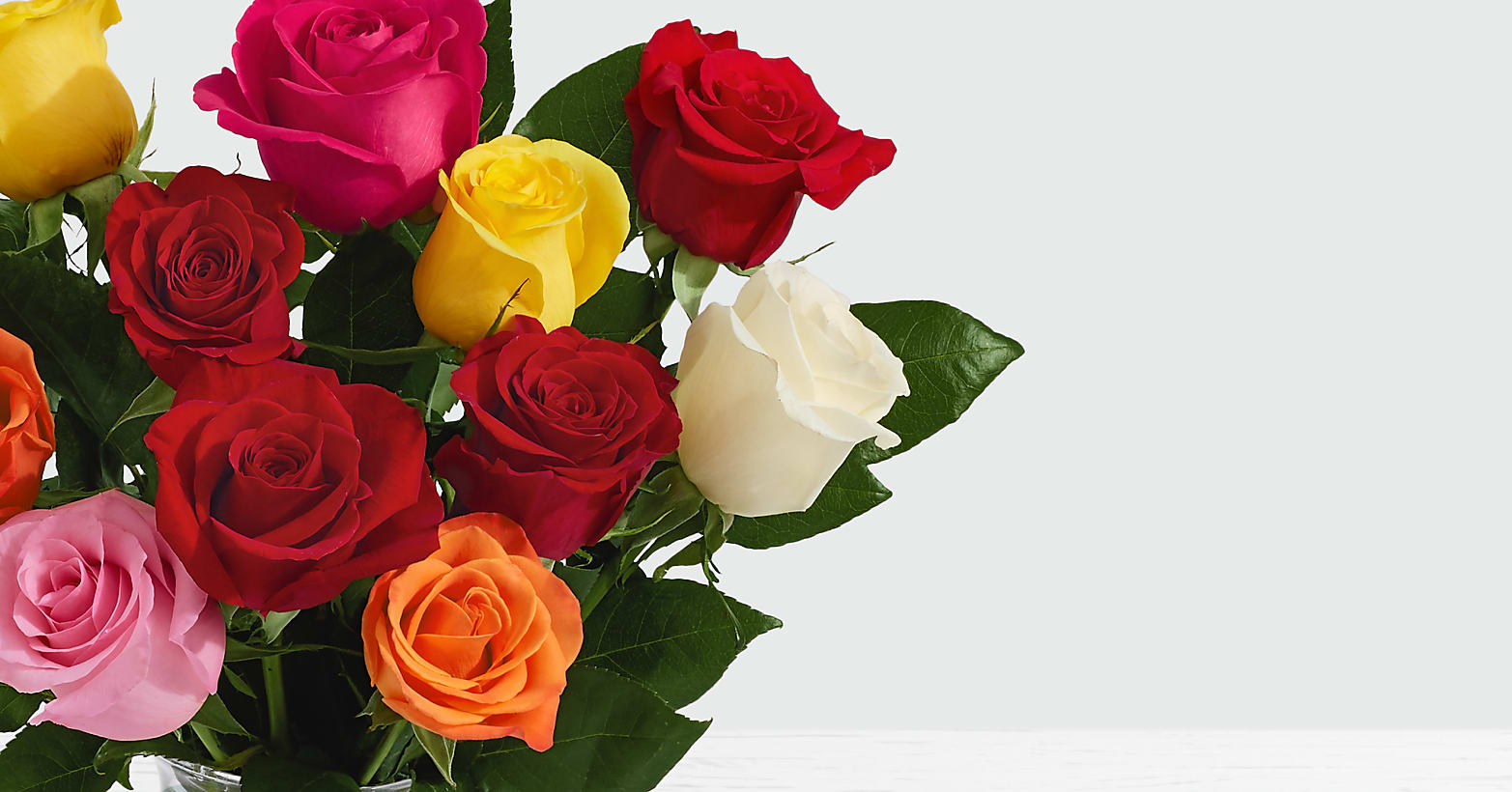 One Dozen Assorted Roses - Image 2 Of 6