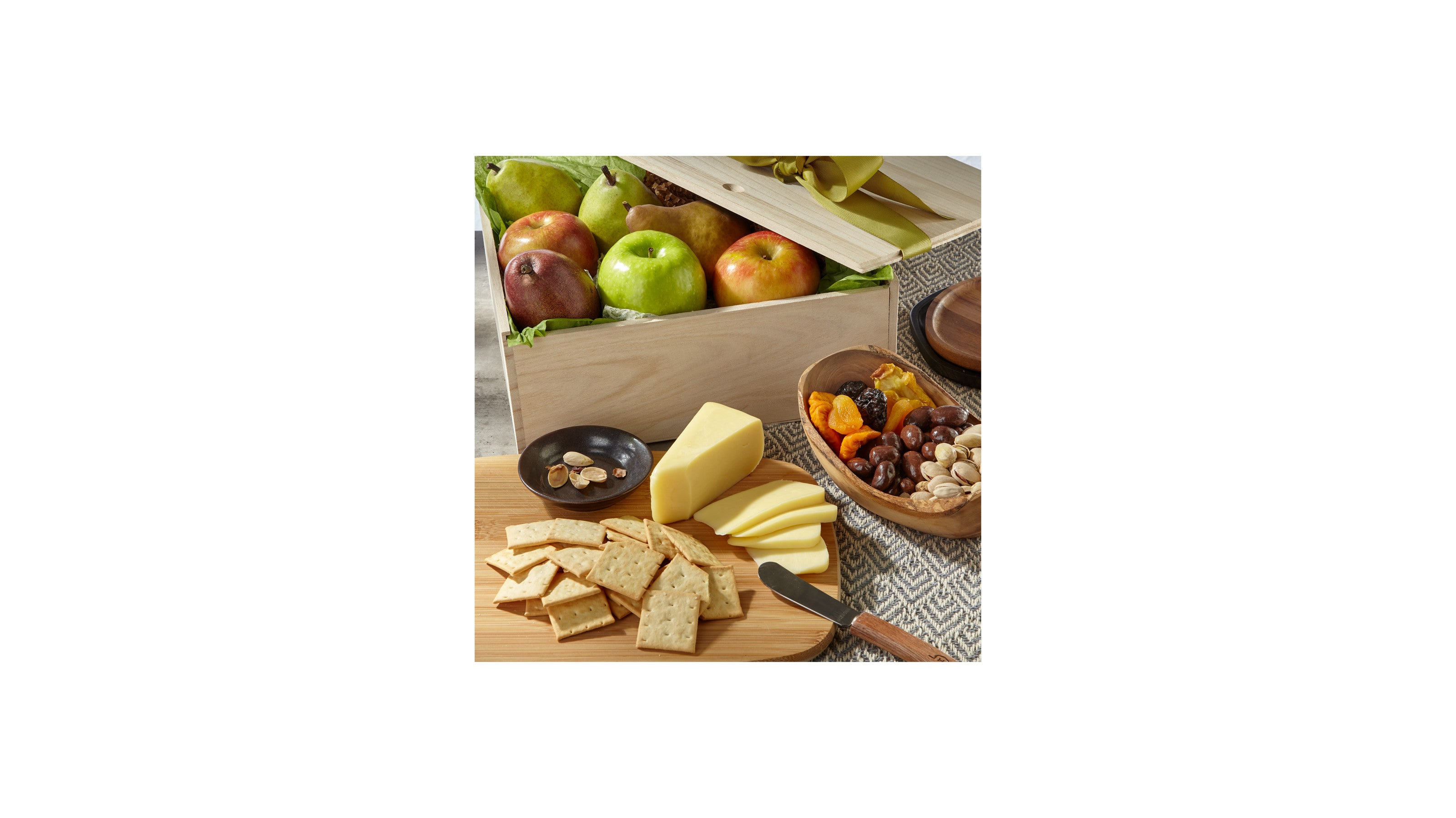 Gourmet Fruit, Cheese & Nut Gift Crate
