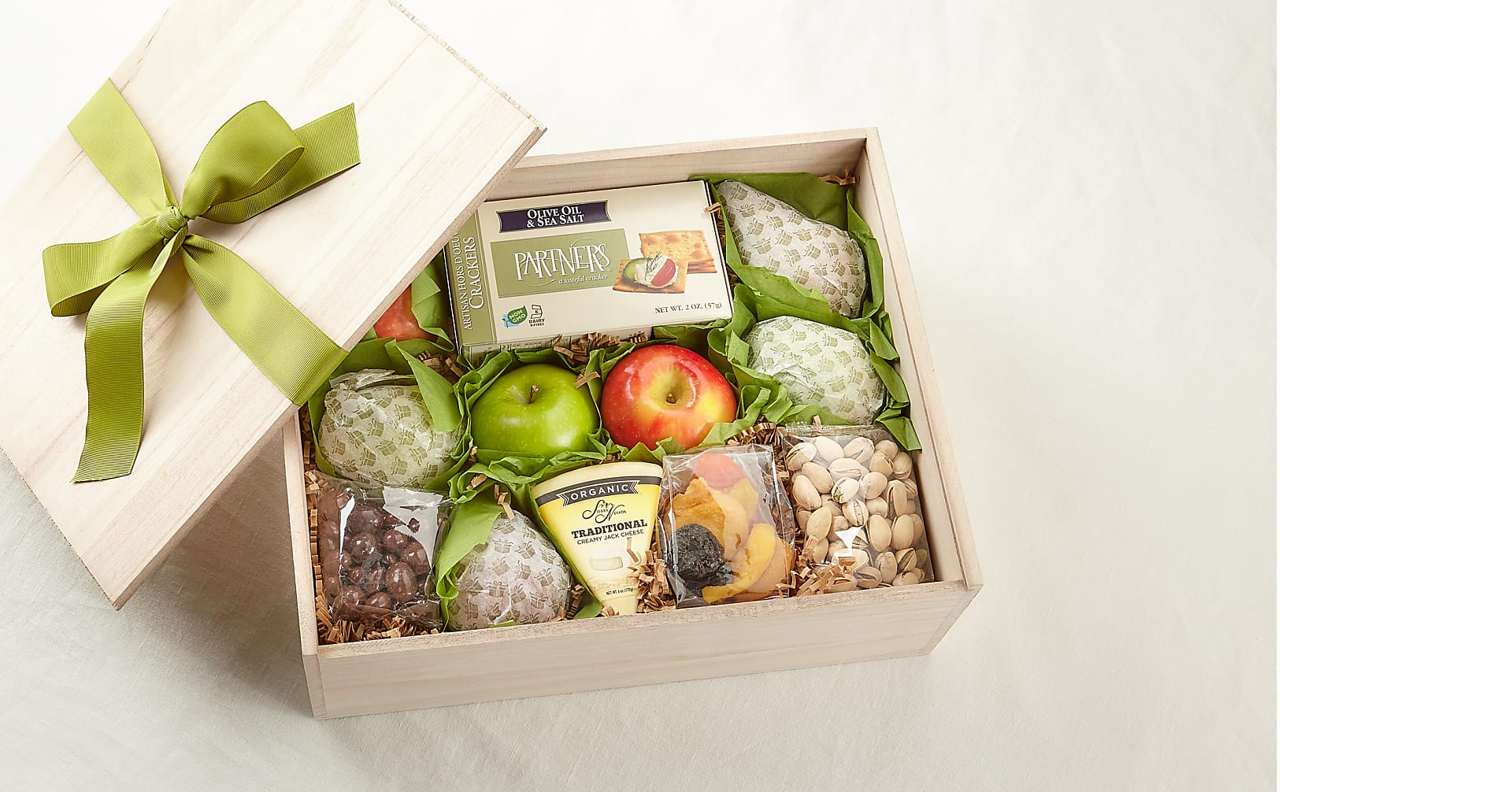 Gourmet Fruit, Cheese & Nut Gift Crate - Image 2 Of 2