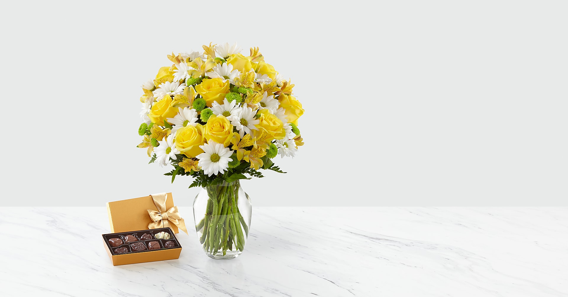 Sunny Sentiments Bouquet & Chocolate