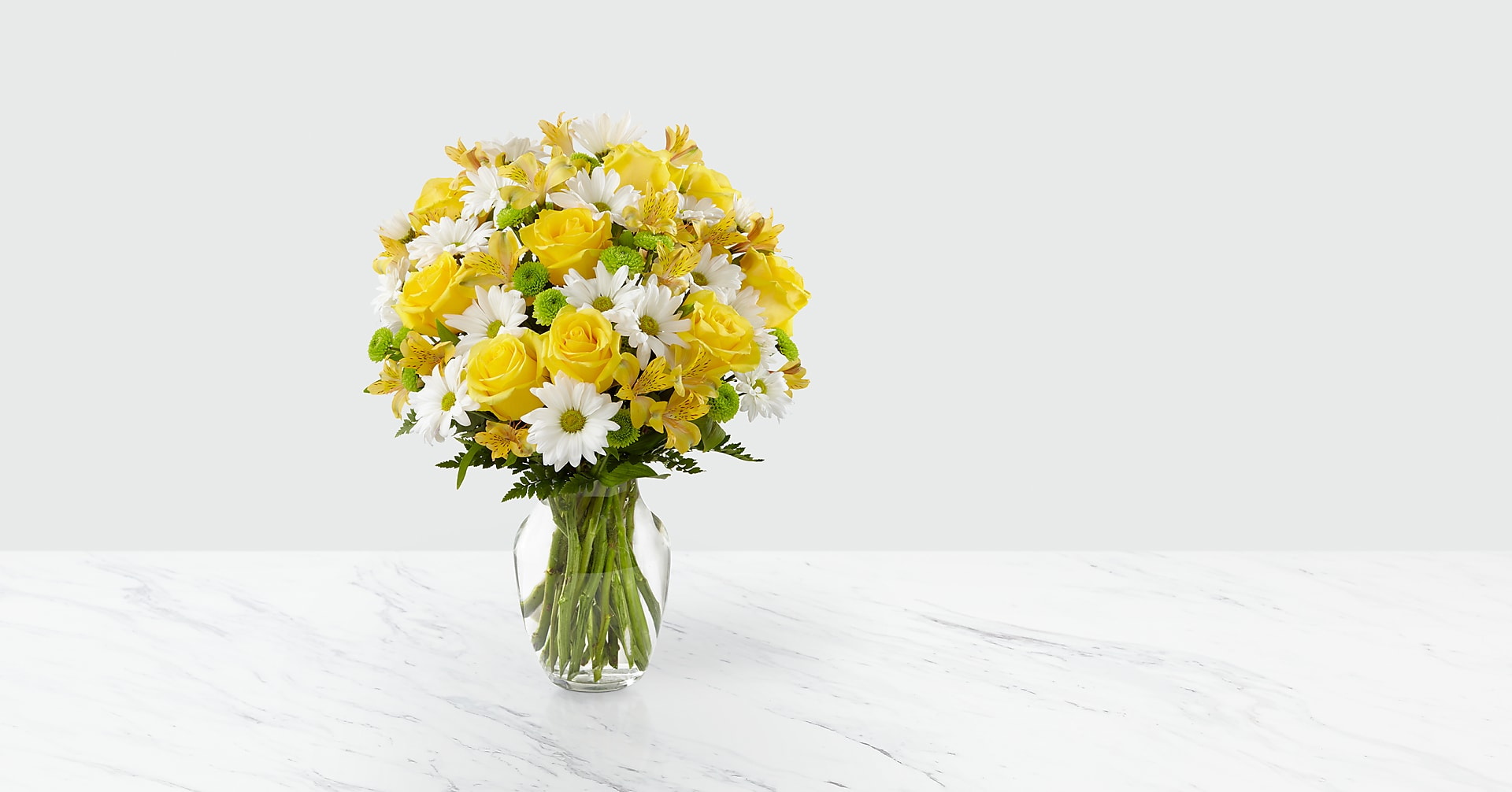 The Sunny Sentiments™ Bouquet - VASE INCLUDED - Image 1 Of 4
