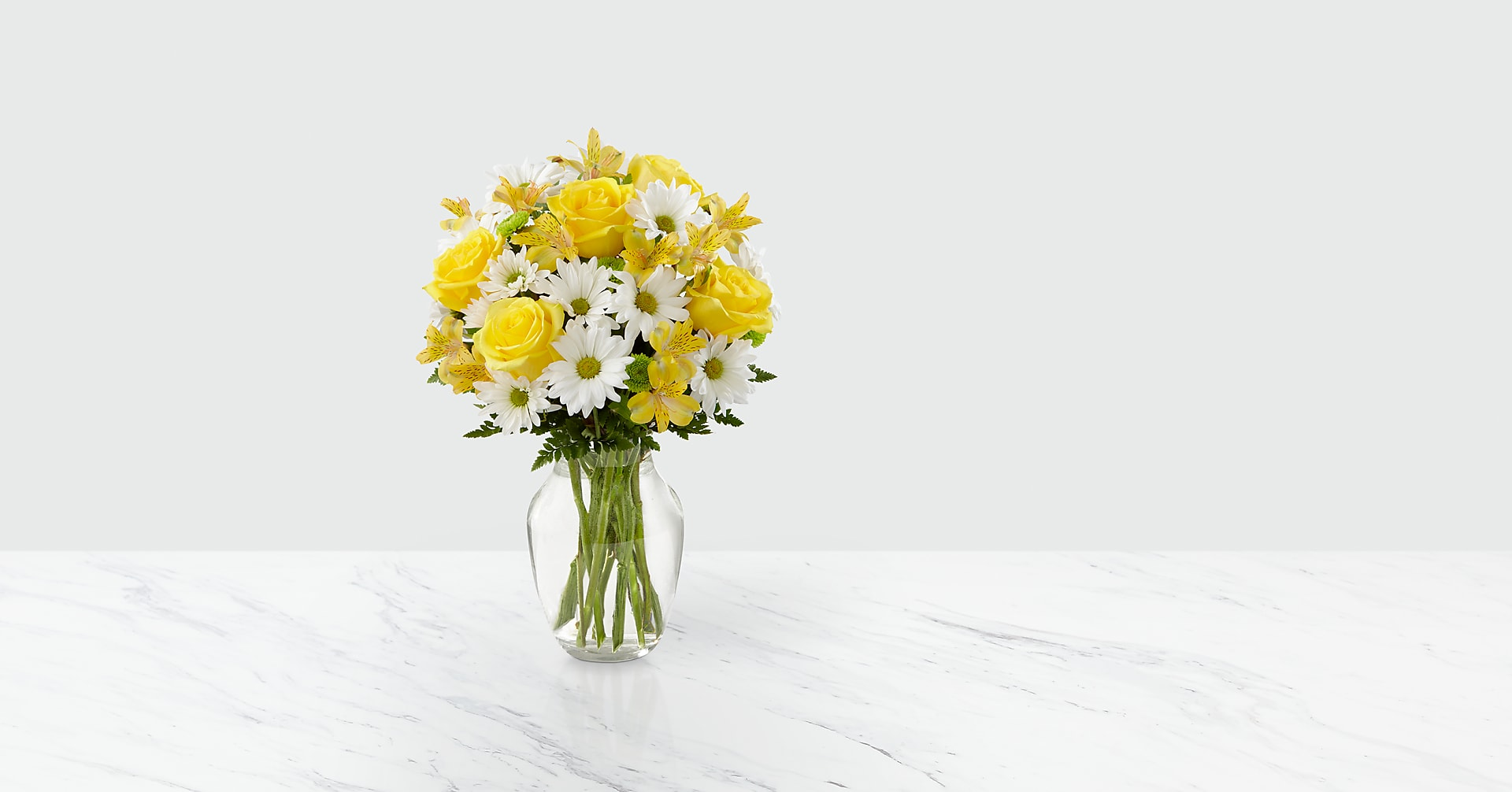 The Sunny Sentiments™ Bouquet - VASE INCLUDED - Image 1 Of 3