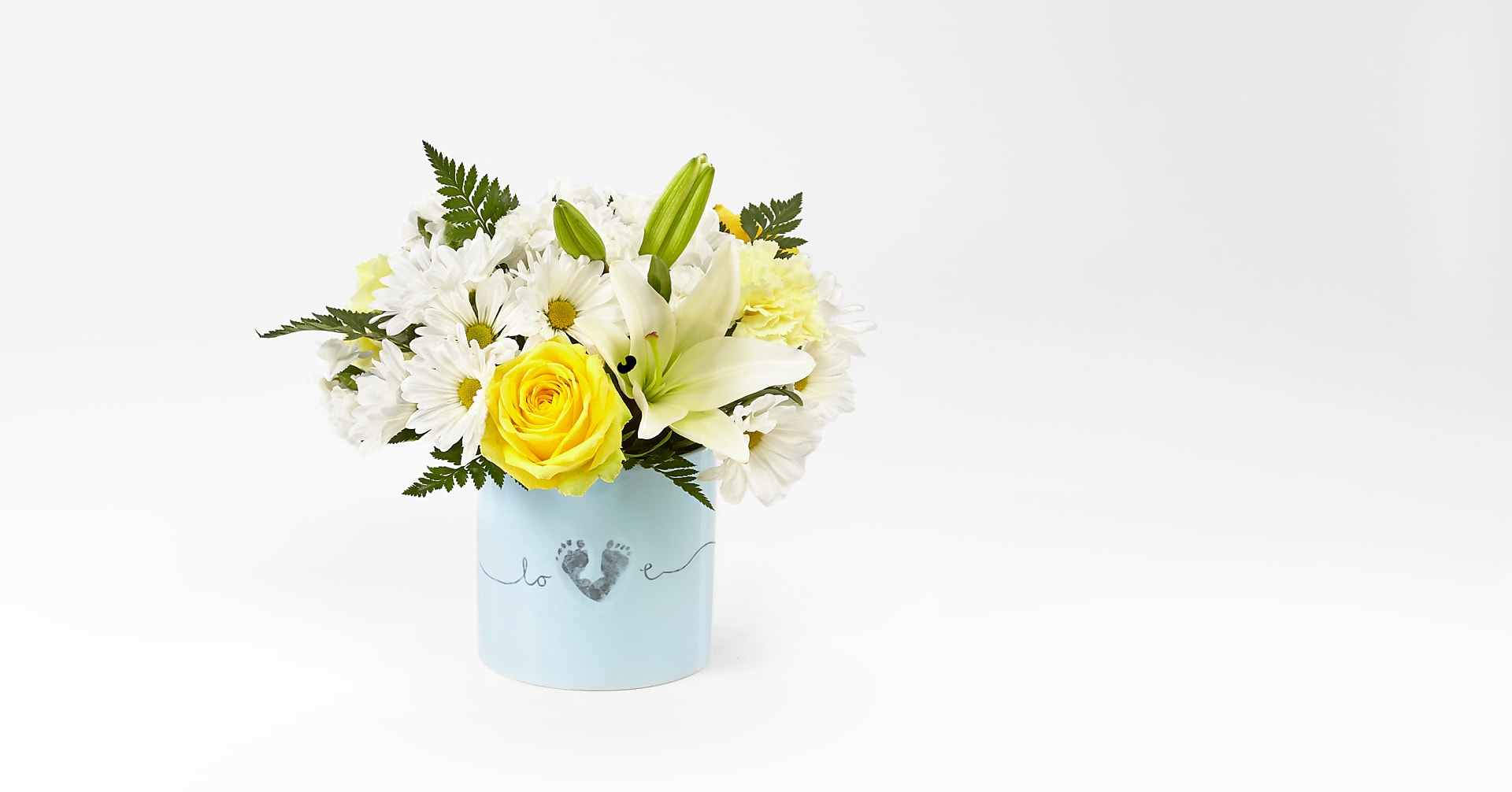 Tiny Miracle™ New Baby Boy Bouquet - VASE INCLUDED - Image 1 Of 3