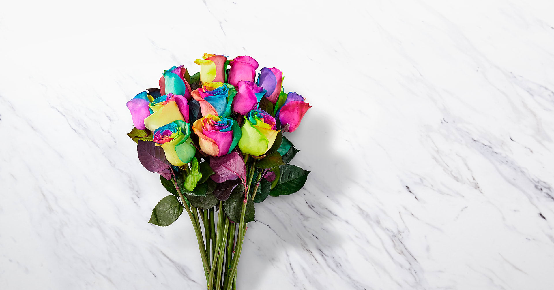 Time to Celebrate Rainbow Rose Bouquet - Image 2 Of 3