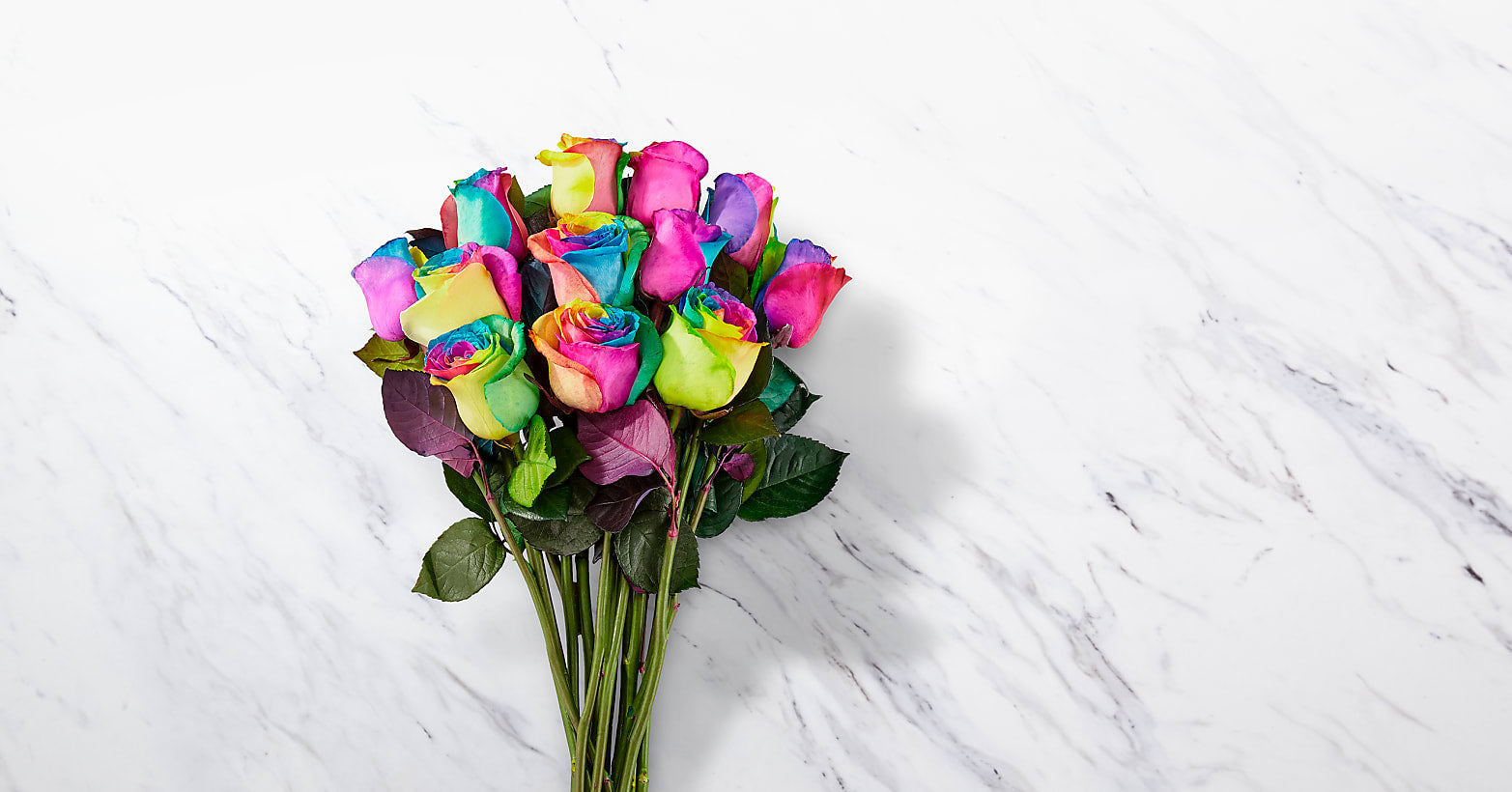 Rainbow Rose Bouquet - Image 2 Of 2