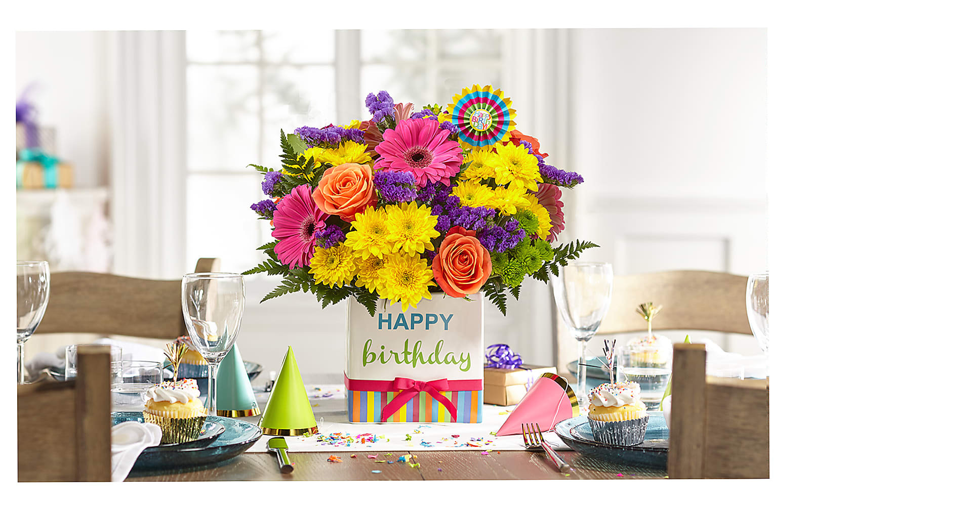 Birthday Brights Bouquet - Image 3 Of 4