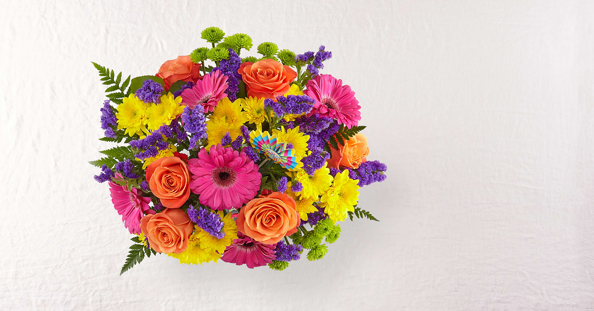 Birthday Brights™ Bouquet - VASE INCLUDED - Image 2 Of 5