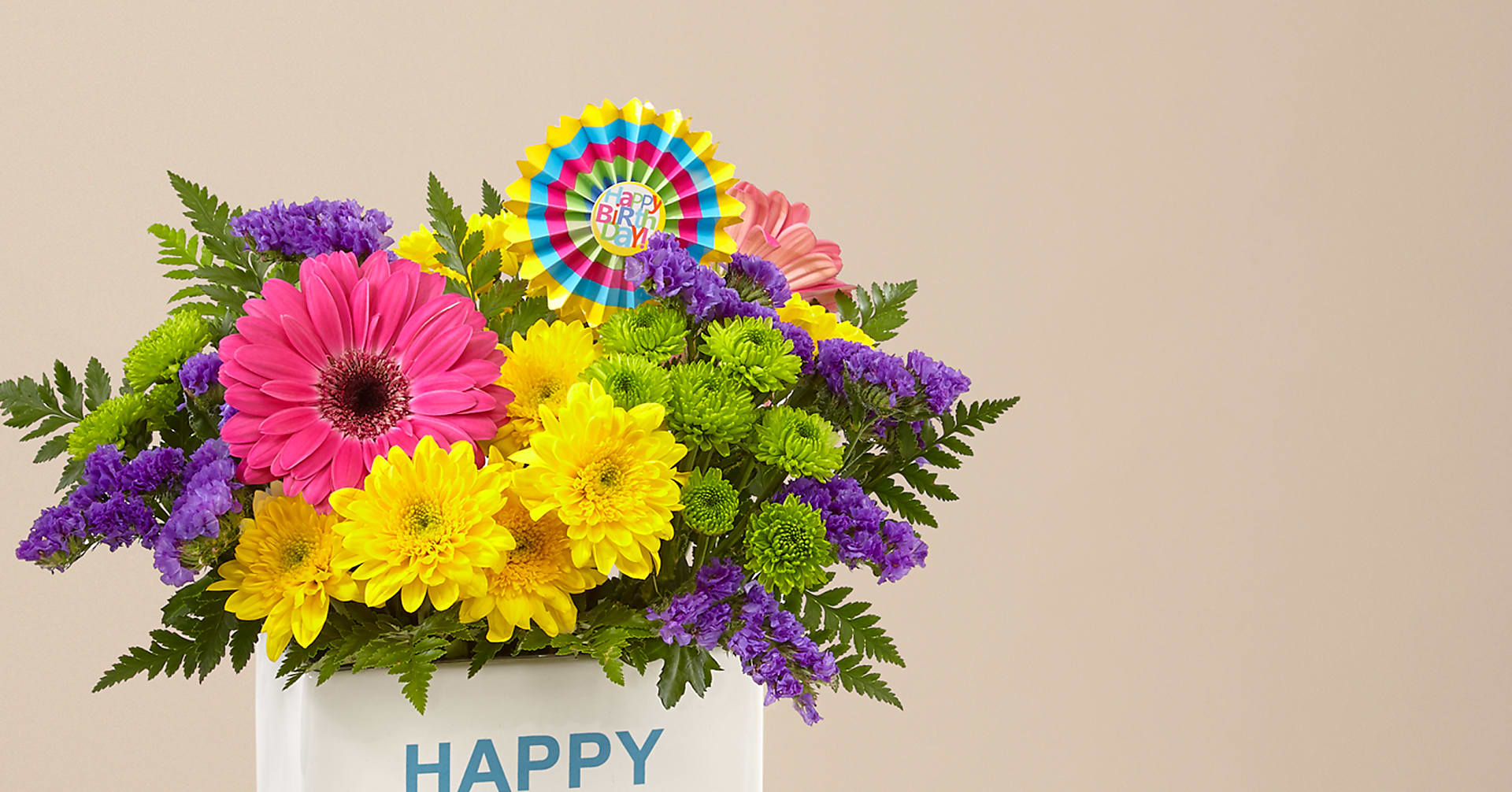 Birthday Brights™ Bouquet - VASE INCLUDED - Image 3 Of 5